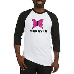 Butterfly - Makayla Baseball Jersey