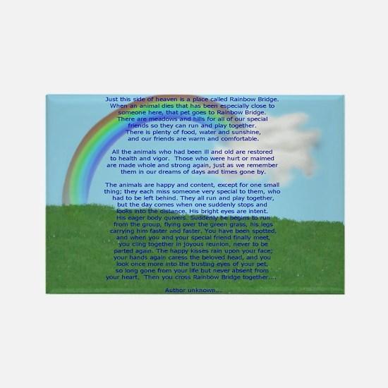 Rainbow Bridge Rectangle Magnet