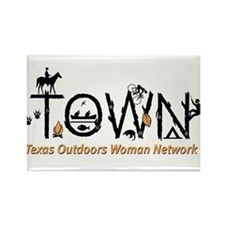 Cute Texas outdoors woman Rectangle Magnet