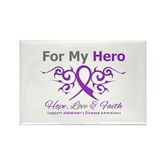 Alzheimer's For My Hero Rectangle Magnet (10 pack)
