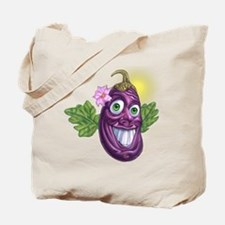 Funny eggplant Tote Bag