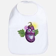Funny eggplant Bib