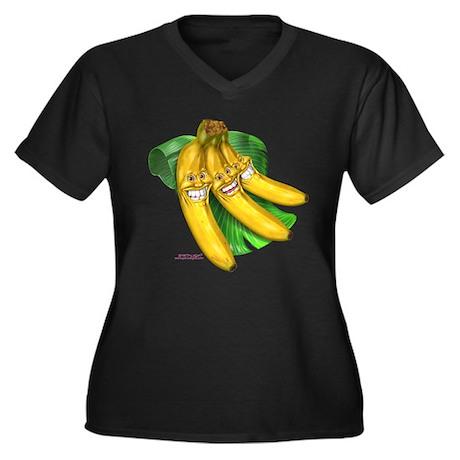 banana bananas Women's Plus Size V-Neck Dark T-Shi