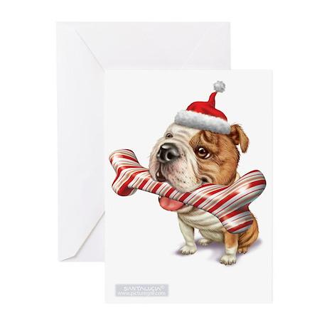 american bulldog bulldogs Greeting Cards (Pk of 20
