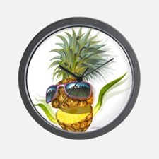 pineapple pineapples Wall Clock
