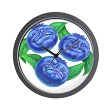 blueberries blueberry Wall Clock