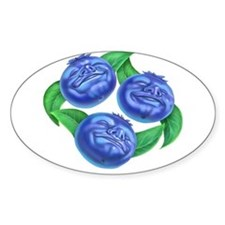 blueberries blueberry Oval Decal