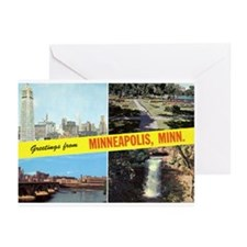 1950's Greetings From Minneapolis Greeting Cards (