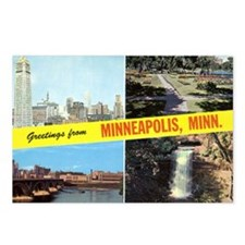 1950's Greetings From Minneapolis Postcards (Packa