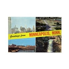 1950's Greetings From Minneapolis Rectangle Magnet