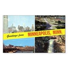 1950's Greetings From Minneapolis Decal