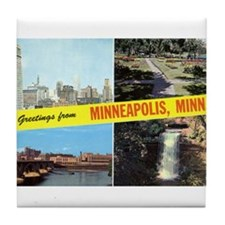 1950's Greetings From Minneapolis Tile Coaster