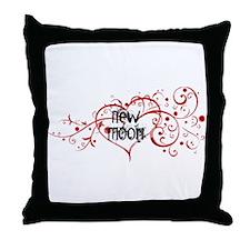 New Moon Heart Throw Pillow