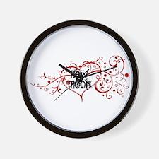 New Moon Heart Wall Clock