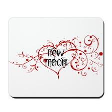New Moon Heart Mousepad