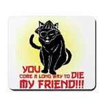 kung fu cat Mousepad