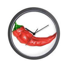pepper peppers Wall Clock