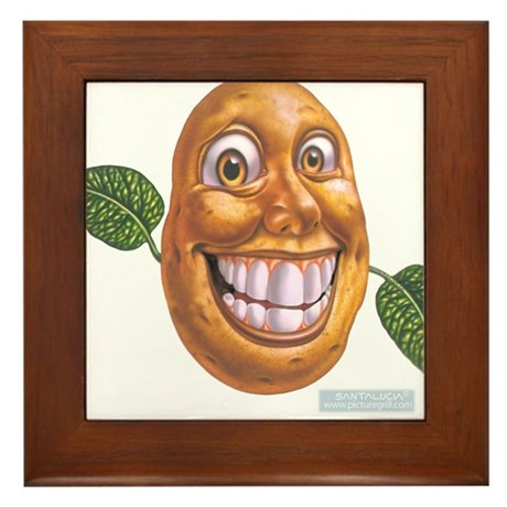 patato patatos Framed Tile