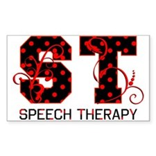 Red and Black Rectangle Decal