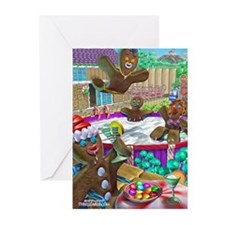 gingerbread cookies gingerbre Greeting Cards (Pk o