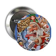 """santa stuck on northpole 2.25"""" Button"""