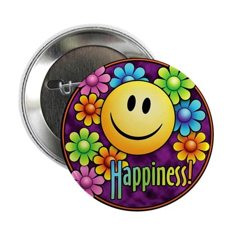 """Happiness 2.25"""" Button"""