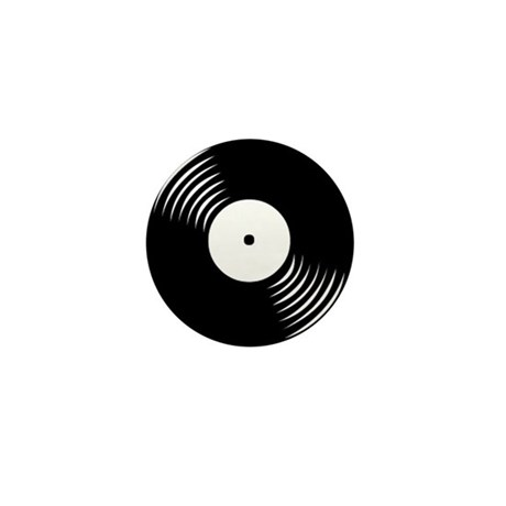 Vinyl Record Mini Button