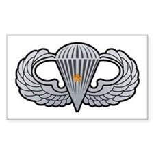 Airborne Wings with Combat St Sticker (Rectangular