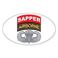 Sapper/Airborne Tab Basic Air Oval Decal