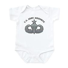 Senior Airborne Wings U.S Arm Infant Bodysuit