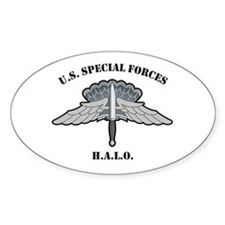 Basic HALO Wings U.S. Special Oval Decal