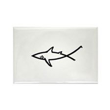 Cute Christian fish Rectangle Magnet (10 pack)