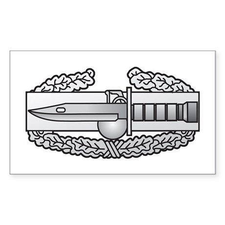 Combat Action Badge Rectangle Sticker