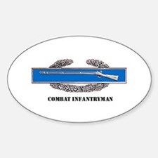 Combat Infantryman's Badge Oval Decal