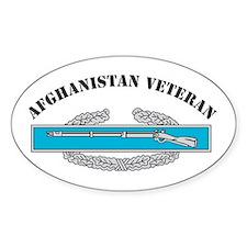 CIB Afghanistan Veteran Oval Decal