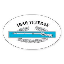 CIB Iraq Veteran Oval Decal