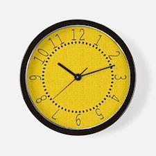 Gold Linen Look Wall Clock