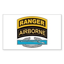 CIB with Ranger/Airborne Tab Rectangle Decal