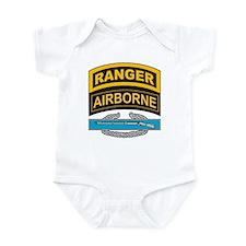 CIB with Ranger/Airborne Tab Infant Bodysuit