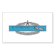 Combat Infantryman's Badge 2n Sticker (Rectangular