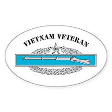 CIB 2 Vietnam Veteran Oval Decal