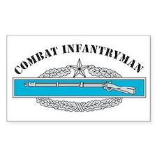 CIB 2 Combat Infantryman Rectangle Decal