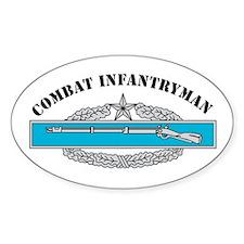 CIB 2 Combat Infantryman Oval Decal