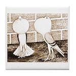 Voorburg Pigeon Pair Tile Coaster