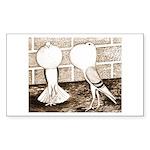 Voorburg Pigeon Pair Rectangle Sticker 10 pk)