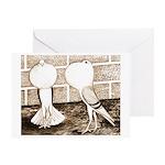 Voorburg Pigeon Pair Greeting Card