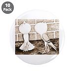 """Voorburg Pigeon Pair 3.5"""" Button (10 pack)"""