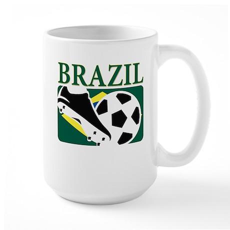 Brazilian World cup soccer Large Mug