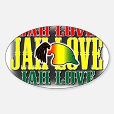 JAH LOVE2 Oval Decal