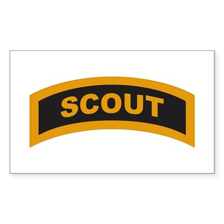 Scout Tab Rectangle Sticker